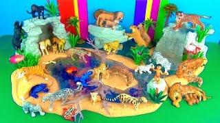 Zoo Animals Toy Collection Lion Tiger Panther Jaguar Jungle Book León Leão Fun End