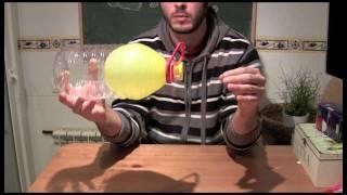 Experimentos caseros - Globo y botella ( Con explicación )