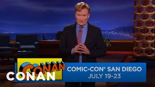 Conan Is Returning To Comic-Con® July 19-23  - CONAN on TBS