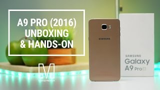 Samsung Galaxy A9 Pro Unboxing and Hands-On