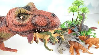 T-Rex Eat Dinosaurs~ Dinosaur Toys For Kids! Big Giant Head Dino Surprise Eggs Learning Video 공룡 공격