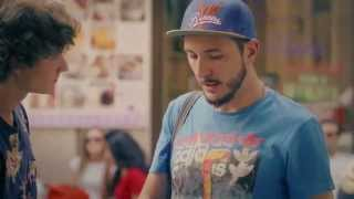 gay couple social experiment. Reactions to homophobia
