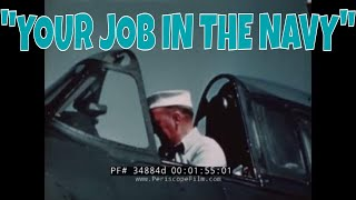 "1944 WORLD WAR II RECRUITING FILM   AVIATION ORDNANCEMAN   ""YOUR JOB IN THE NAVY""  34884d"