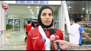 اشک های کاپیتان تیم ملی زنان ایران در شب استقبال از هم تیمی های قهرمانش/گزارش بازگشت تیم ملی