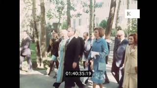 1978 Shah and Princess Farah Visit University, Pre Revolution Iran in HD