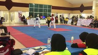 Taekwondo SUKIPT 2018- Goh Zhi Lin Vs Nur Nadia