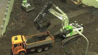 RC Construction Machines building a road Part 1