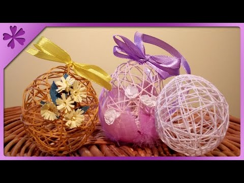 DIY Twine Easter eggs ENG Subtitles Speed up 1