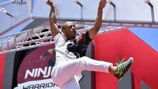 فديو | لحظه فوز محمد رمضان  ب  Ninja warrior بالعربي