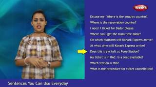 Hindi Sentences You Can Use Everyday | At a Railway Station | English Sentences You Can Use Everyday
