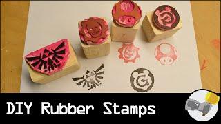 DIY Rubber Stamps // LET'S MAKE
