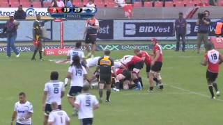 Benji Marshall First Super Rugby Try vs Lions Blues 2014 S15