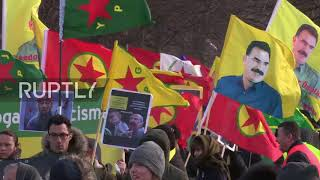 Netherlands: Protesters march in The Hague to denounce Turkish op in Afrin