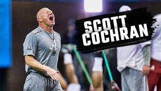 Scott Cochran gets Alabama fired up during practice at the Georgia Dome