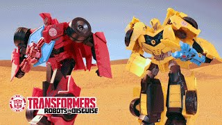 Transformers: Robots in Disguise - 'Bumblebee Ruins Vacation' Official Stop Motion Video
