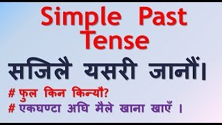 Simple Past Tense  in Nepali (नेपालीमा Simple Past Tense)