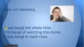 ing ed endings American English Video