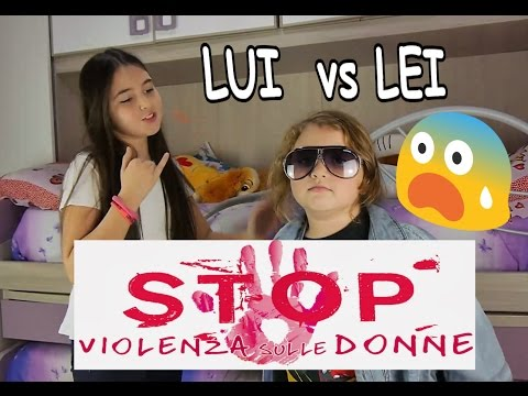 Lui vs Lei -  #noviolenzasulledonne  Maschi vs Femmine  #HerVoiceisMyVoice Marghe Giulia Kawaii