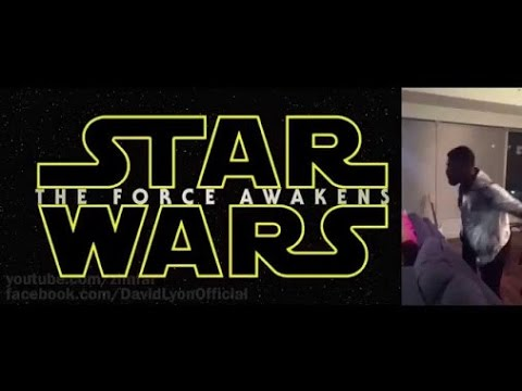 Xxx Mp4 Side By Side John Boyega S Finn Reaction As He Watches The New Star Wars VII Trailer 3gp Sex