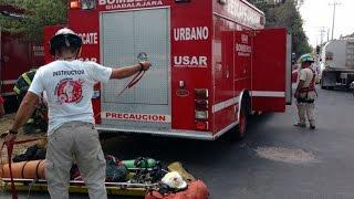 Dos intoxicados por inhalar solventes en Guadalajara Video 2017