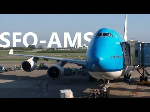 KLM 606 San Francisco to Amsterdam Boeing 747 400 Economy Comfort