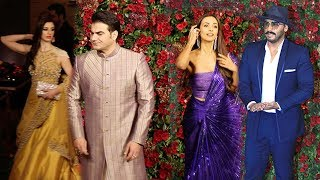 Arbaaz Khan Her New Gf With Ex-Wife Malaika Arora & Bf Arjun Kapoor Enter @RanveerDeepika Reception