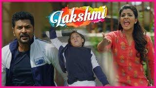 Ditya Meets With an Accident   Lakshmi Movie Scenes   Prabhu Deva   Aishwarya Rajesh   Kovai Saral