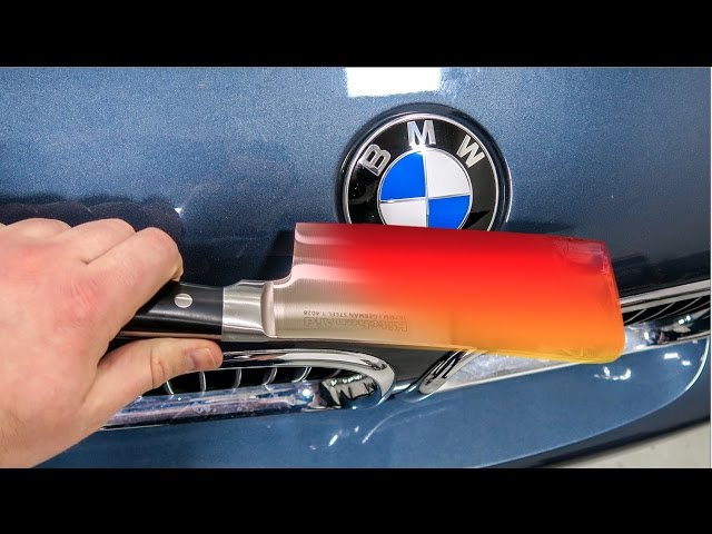 EXPERIMENT Glowing 1000 degree KNIFE VS BMW M5