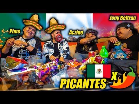 PROBANDO PAPAS PICANTES MEXICANAS ft. ACZINO JONY BELTRAN y PIME