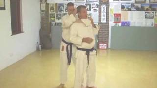 Tom Hill's Karate Dojo; Escape from Rear Naked Choke or Japanese Strangle