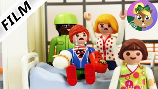 بلايموبيل فيلم - جوليان يلعب فى المستشفى بالكراسى و يقوم بكسر يدية الاثنان ! سلسلة عائلة الطيور