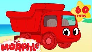 Dumptruck vehicle adventures with Morphle ( +1 hour My Magic Pet Morphle kids videos compilation)