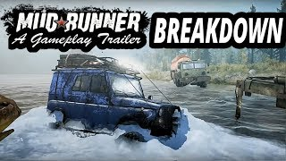Spintires Mudrunner: Gameplay Trailer BREAKDOWN