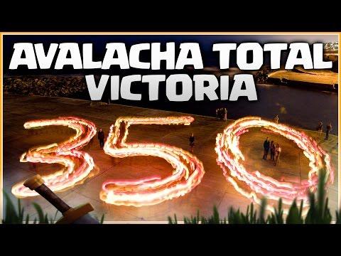 VICTORIA 350 EN AVALANCHA TOTAL TH 9 10 y 11 - GUERRA DE CLANES - CLASH OF CLANS
