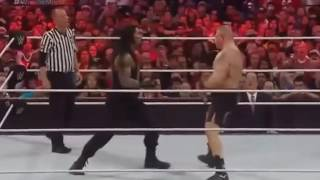 Wwe Raw  2016 latest fight of broke Lesnar vs Roman Reigns on Wrestlemania Full HD