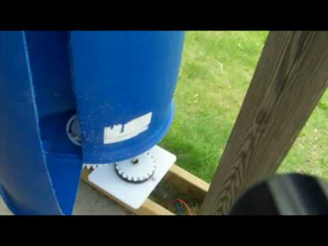 How to Make an Inexpensive Vertical Wind Turbine Part 2