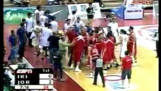 Jordan vs Iran  jones cup 2009 basketball turn into rumble