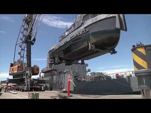 LSV-3 General Brehon B. Somervell Loads Army Watercraft