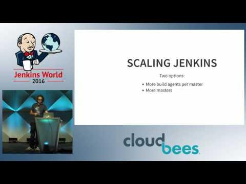 Jenkins World 2016 - Scaling Jenkins with Docker: Swarm, Kubernetes or Mesos?