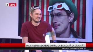 """Download Maximilian, la Adevărul Live: """"Industria muzicală actuală nu e rea, dar e loc de mai bine"""""""