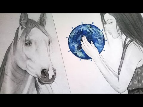 Speed drawing horse & girl