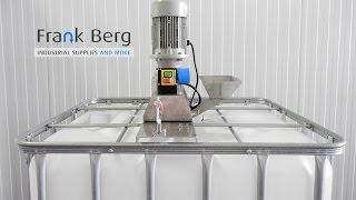 IBC Roerwerk - IBC container Mixer - Menger 1000 liter tank