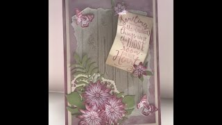 Shabby chic card with Stampin