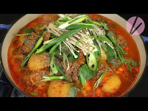 Xxx Mp4 Asian At Home Korean Pork Neck Bone Soup Gamjatang 3gp Sex