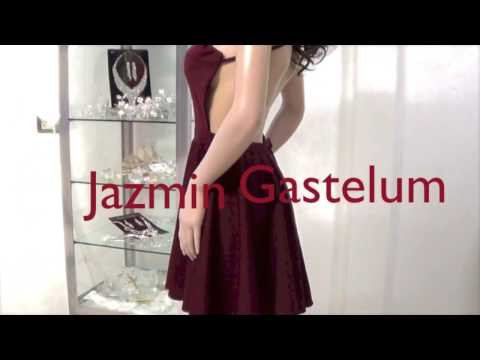 Vestido Escote Halter Espalda Descubierta Jazmin Gastelum