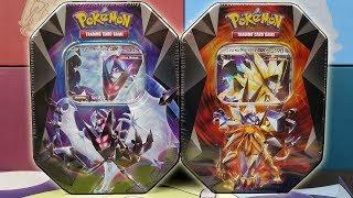 Opening NEW Dawn Wings & Dusk Mane Necrozma Tins of Pokemon Cards!