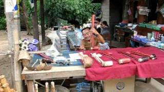 Home-made erhu, Laos