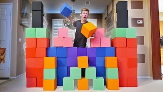 CRAZY INDOOR FOAM PIT FORT WAR!