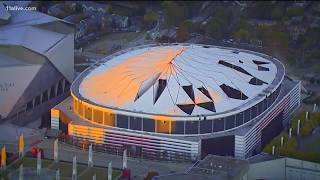 Why did part of the Georgia Dome stay up?