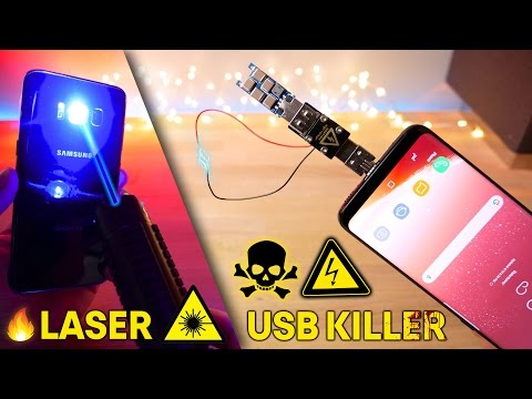 USB Killer 3.0 & Burning Laser vs Samsung Galaxy S8 Instant Death